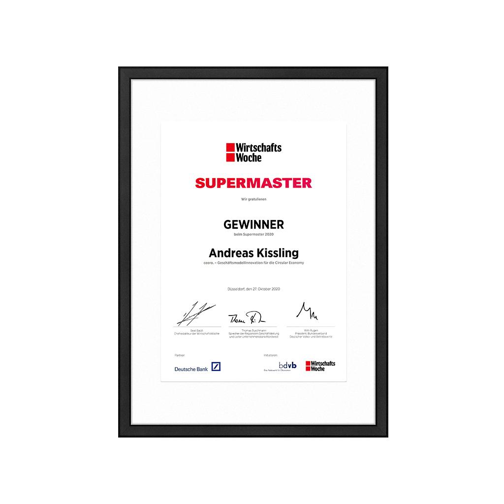 SUPERMASTER 2020 by WirtschaftsWoche & bdvb e.V.